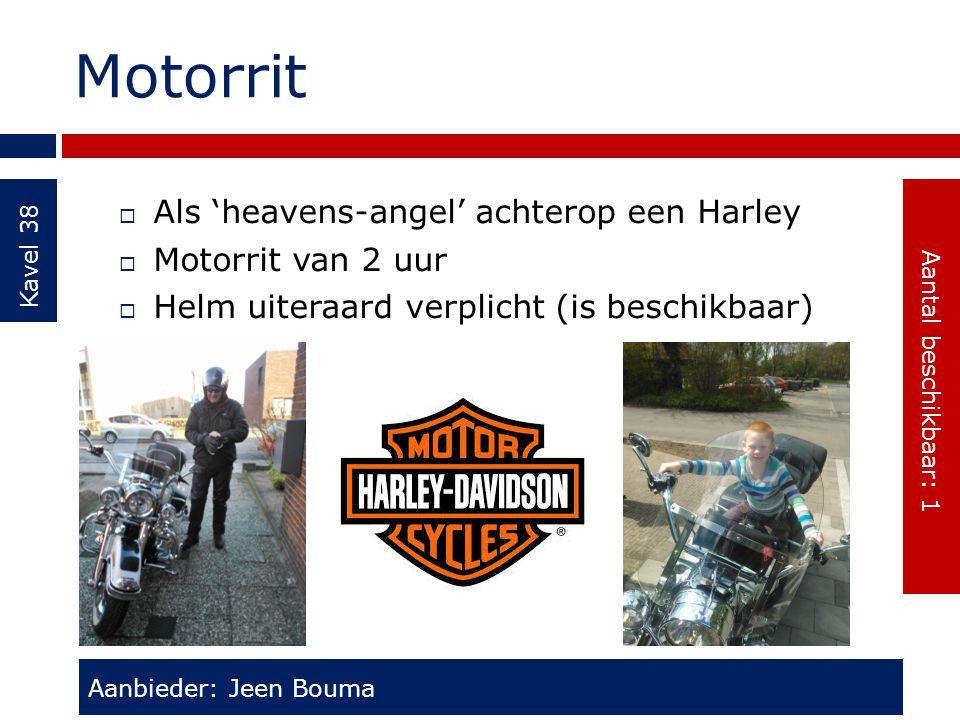 Motorrit Als 'heavens-angel' achterop een Harley Motorrit van 2 uur
