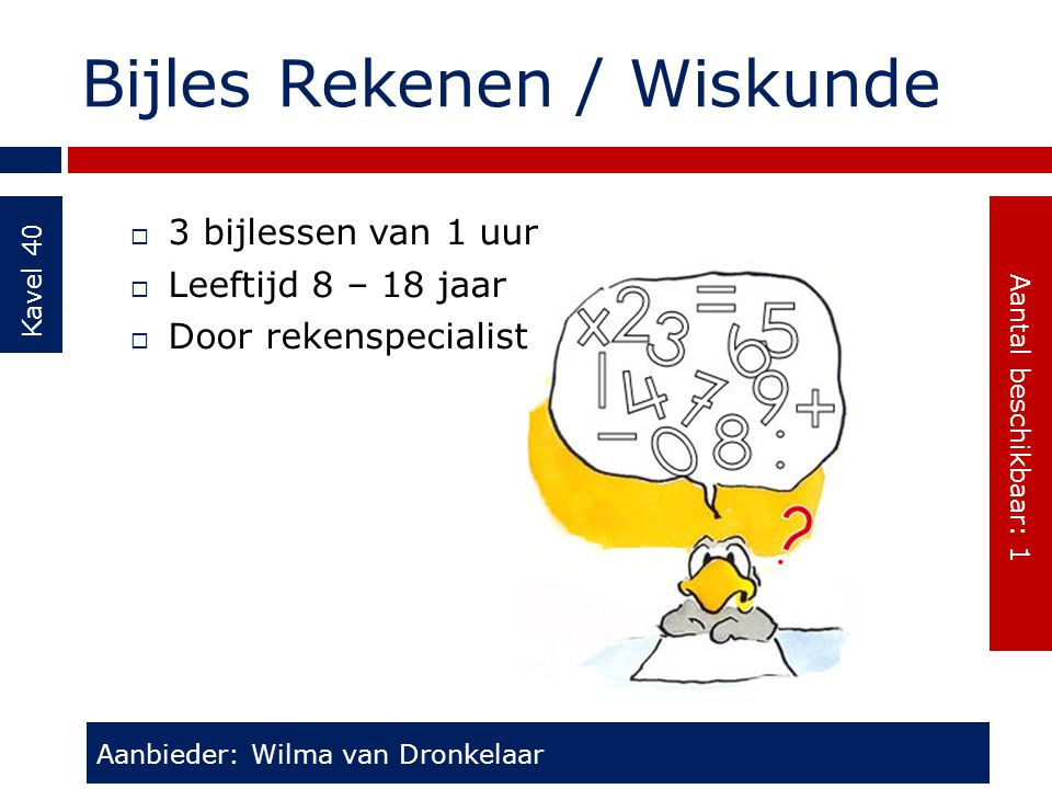 Bijles Rekenen / Wiskunde
