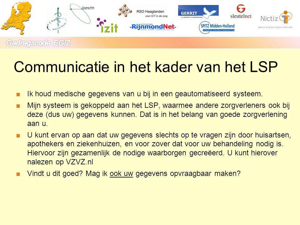Communicatie in het kader van het LSP