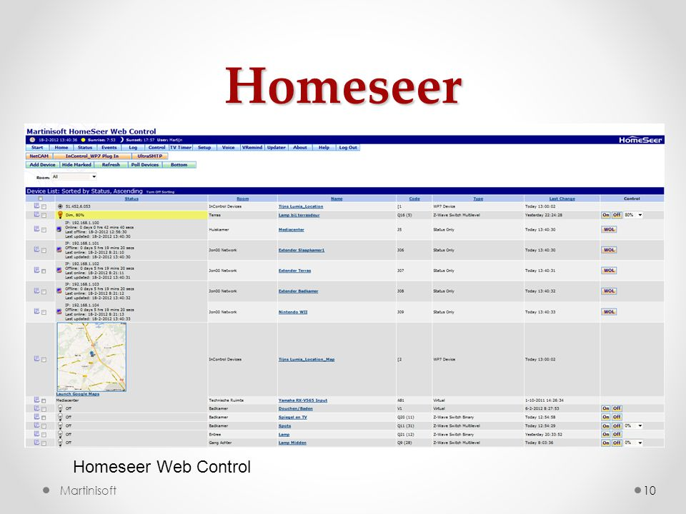 Homeseer Homeseer Web Control Martinisoft