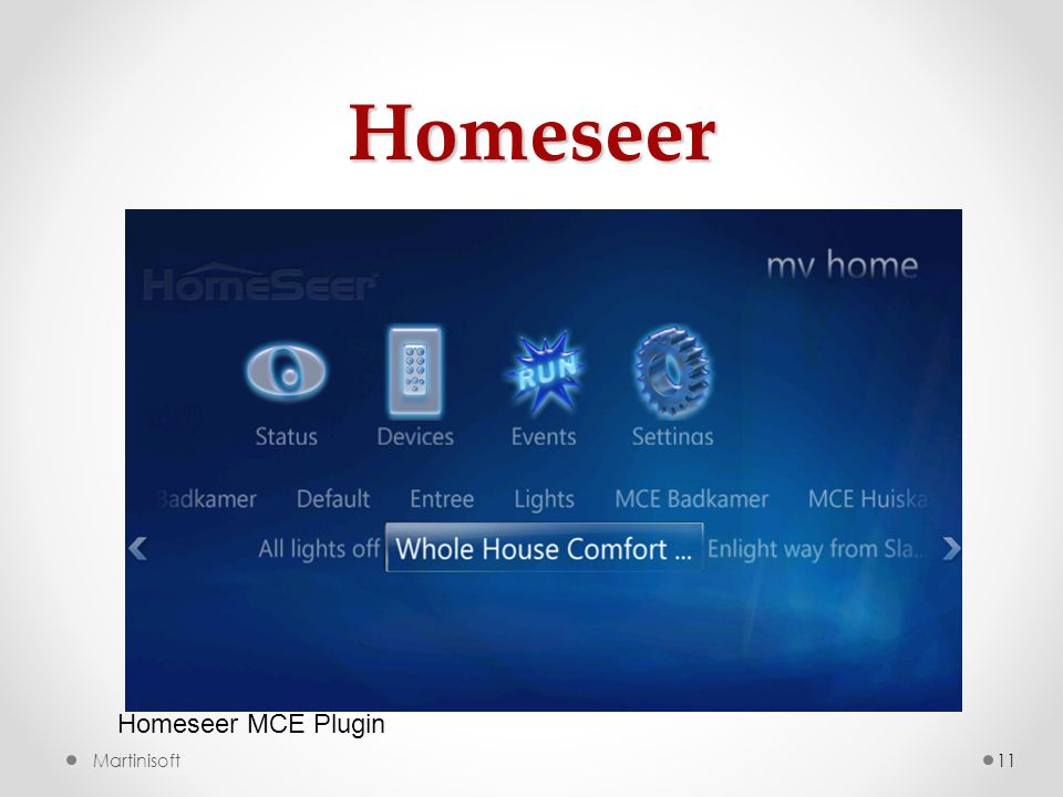 Homeseer Homeseer MCE Plugin Martinisoft