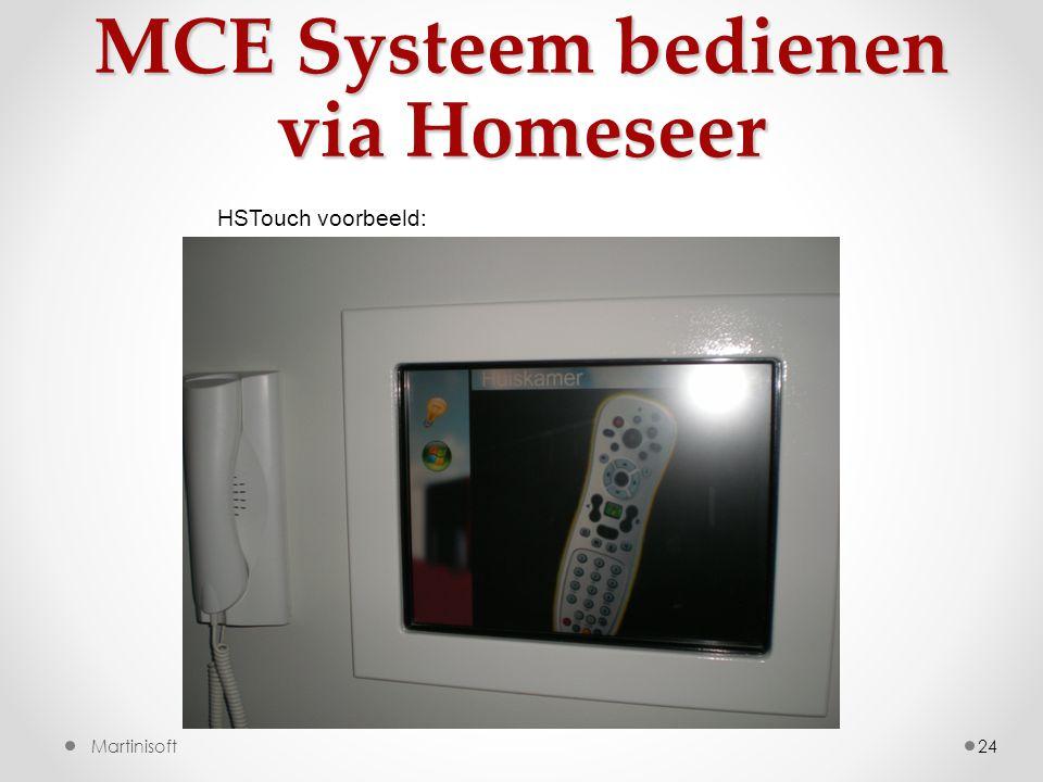 MCE Systeem bedienen via Homeseer