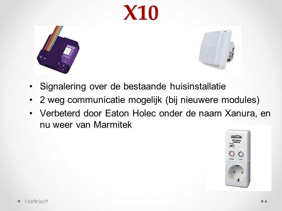 X10 Signalering over de bestaande huisinstallatie