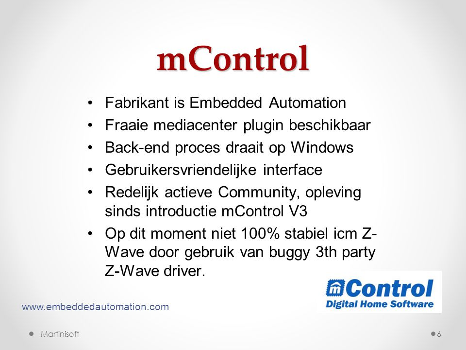 mControl Fabrikant is Embedded Automation
