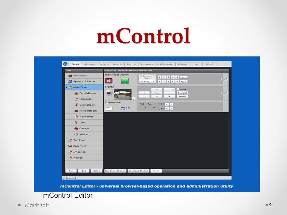 mControl mControl Editor Martinisoft
