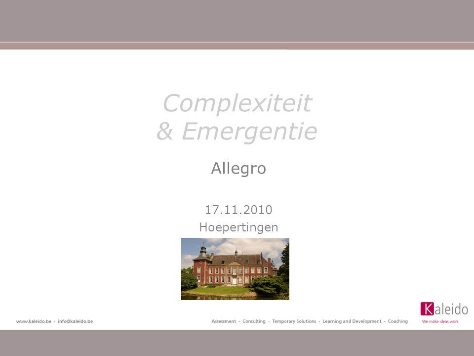 Complexiteit & Emergentie