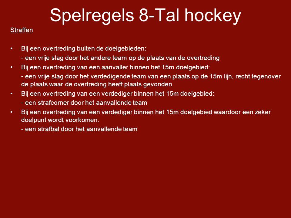 Spelregels 8-Tal hockey