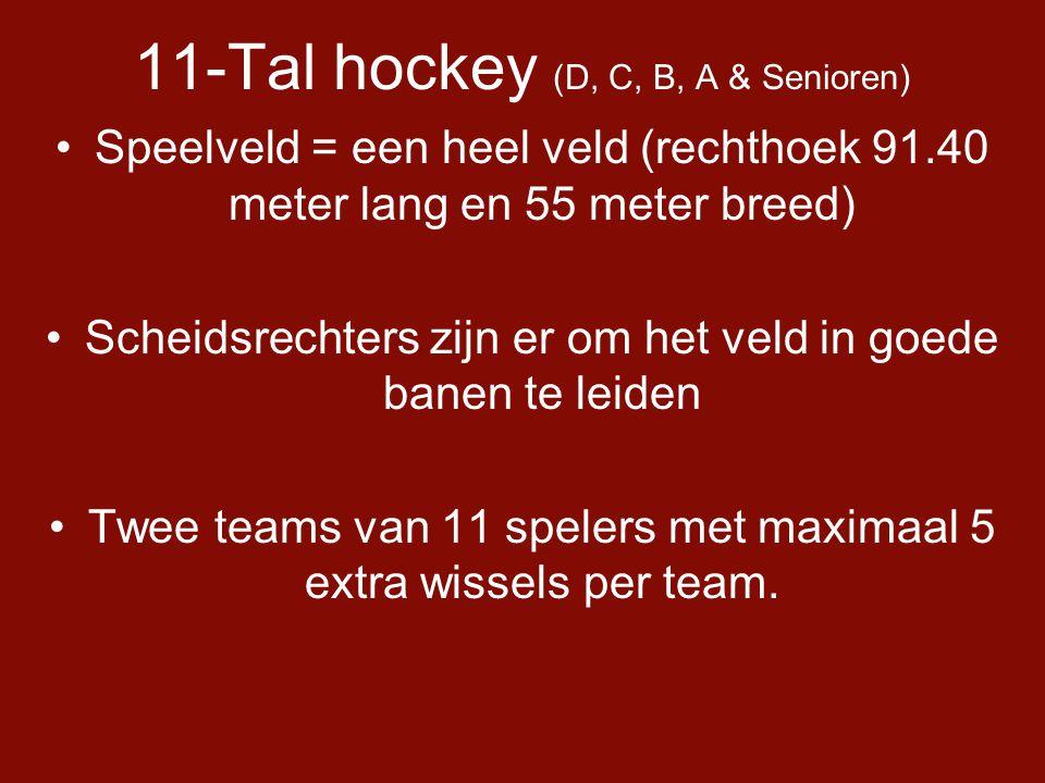 11-Tal hockey (D, C, B, A & Senioren)