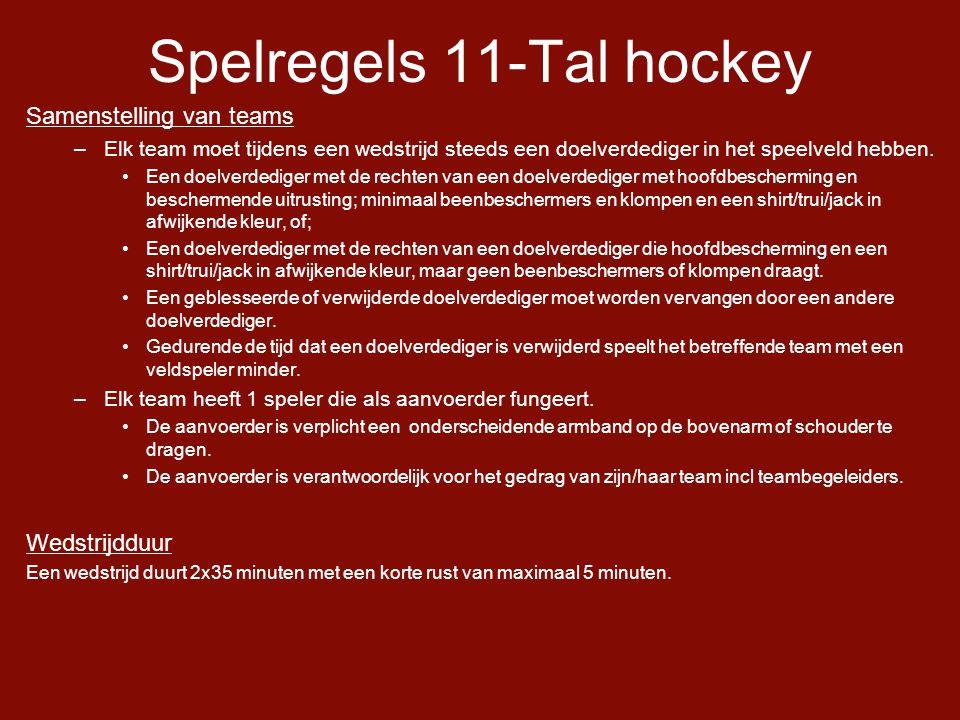 Spelregels 11-Tal hockey