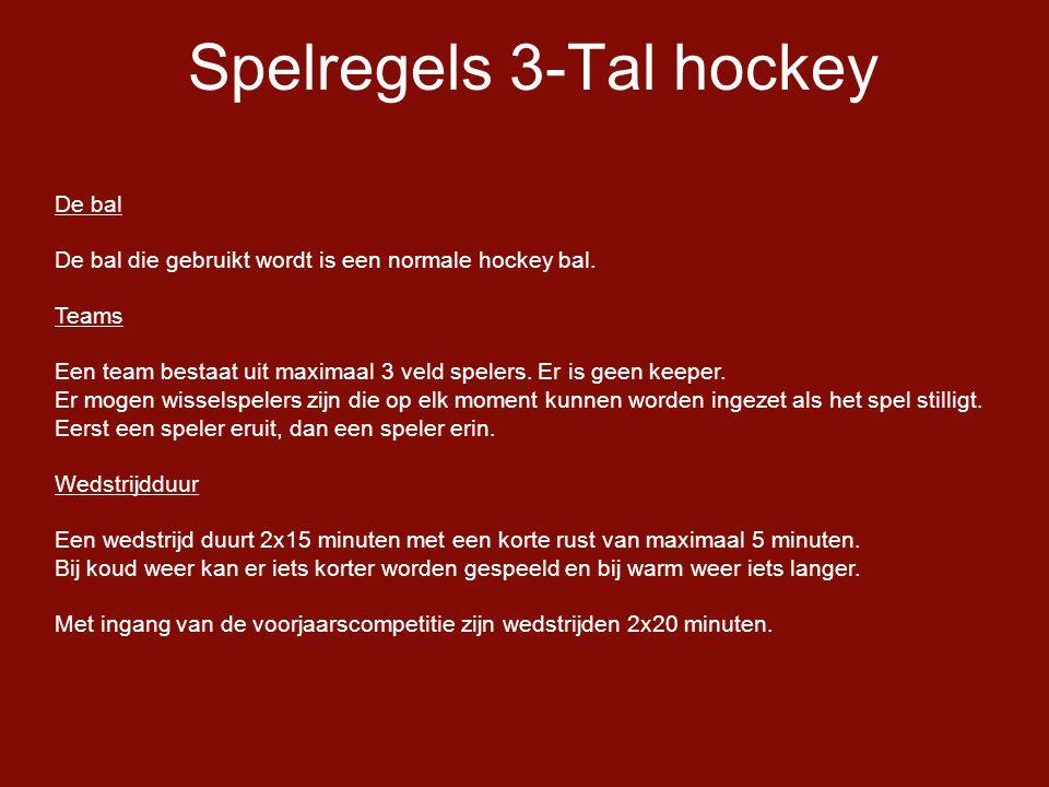 Spelregels 3-Tal hockey