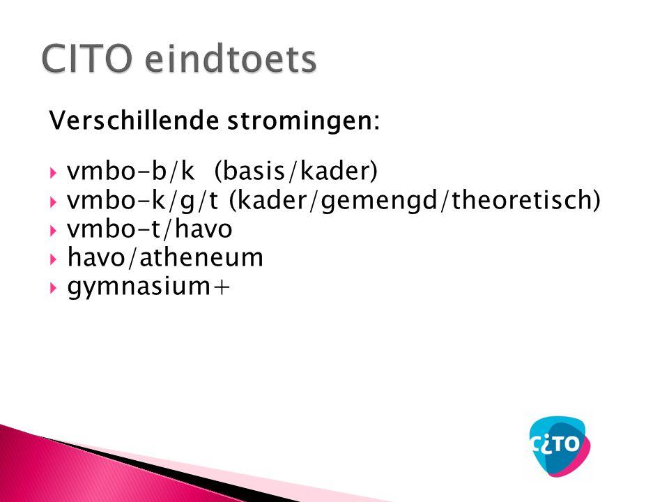CITO eindtoets Verschillende stromingen: vmbo-b/k (basis/kader)
