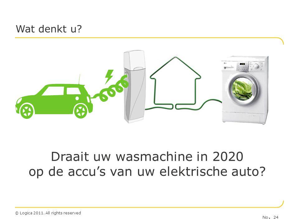Draait uw wasmachine in 2020 op de accu's van uw elektrische auto