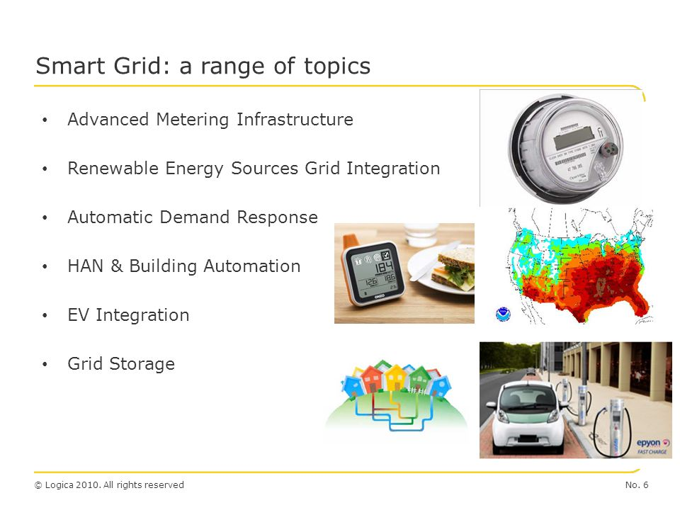 Smart Grid: a range of topics