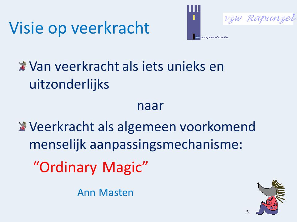 Visie op veerkracht Ordinary Magic Ann Masten