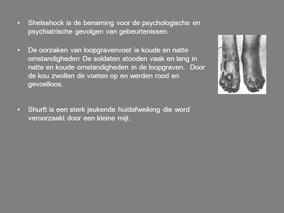 Shelsshock is de benaming voor de psychologische en psychiatrische gevolgen van gebeurtenissen.