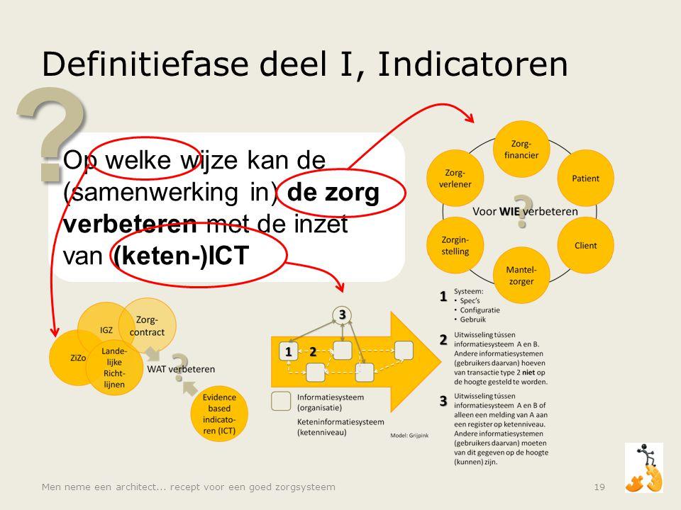 Definitiefase deel I, Indicatoren