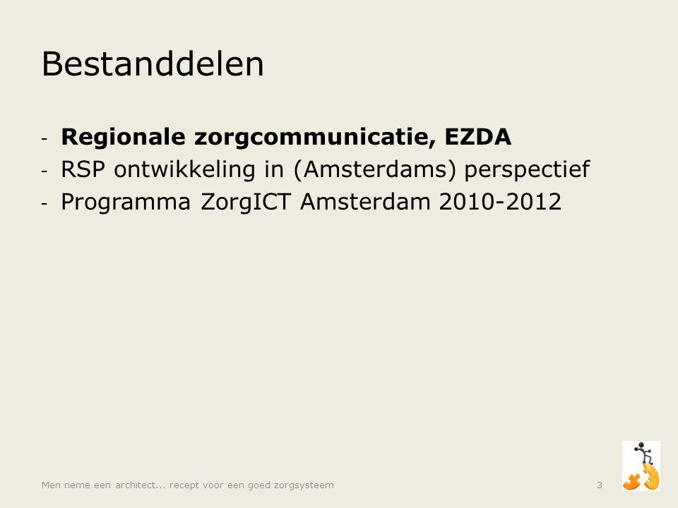 Bestanddelen Regionale zorgcommunicatie, EZDA