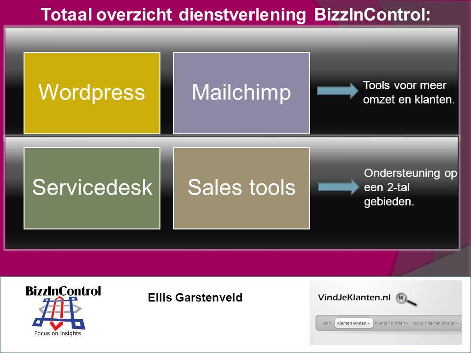 Totaal overzicht dienstverlening BizzInControl: