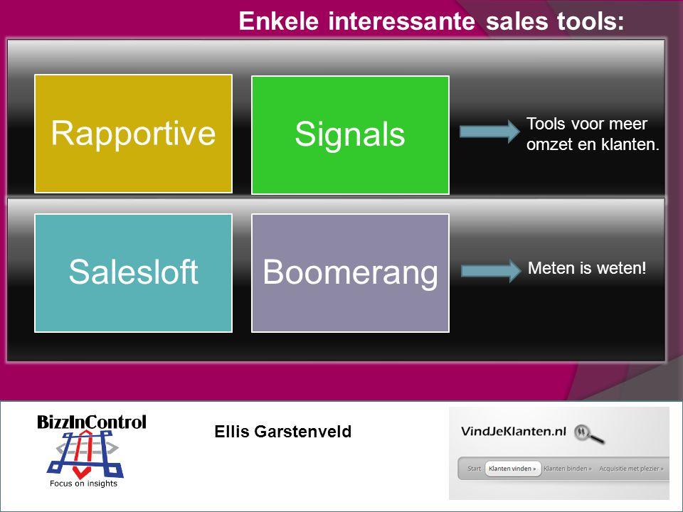 Enkele interessante sales tools: