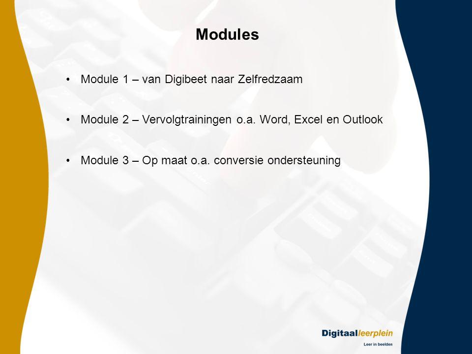 Modules Module 1 – van Digibeet naar Zelfredzaam