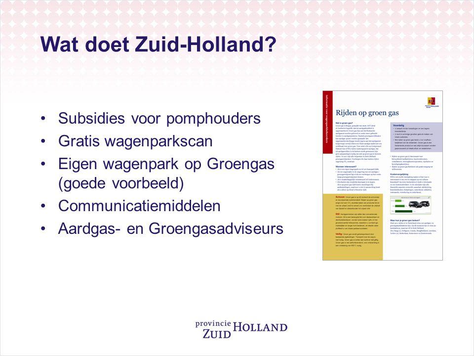 Wat doet Zuid-Holland Subsidies voor pomphouders Gratis wagenparkscan