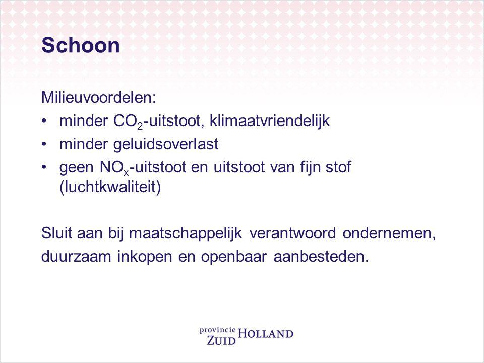 Schoon Milieuvoordelen: minder CO2-uitstoot, klimaatvriendelijk
