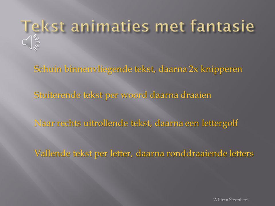 Tekst animaties met fantasie
