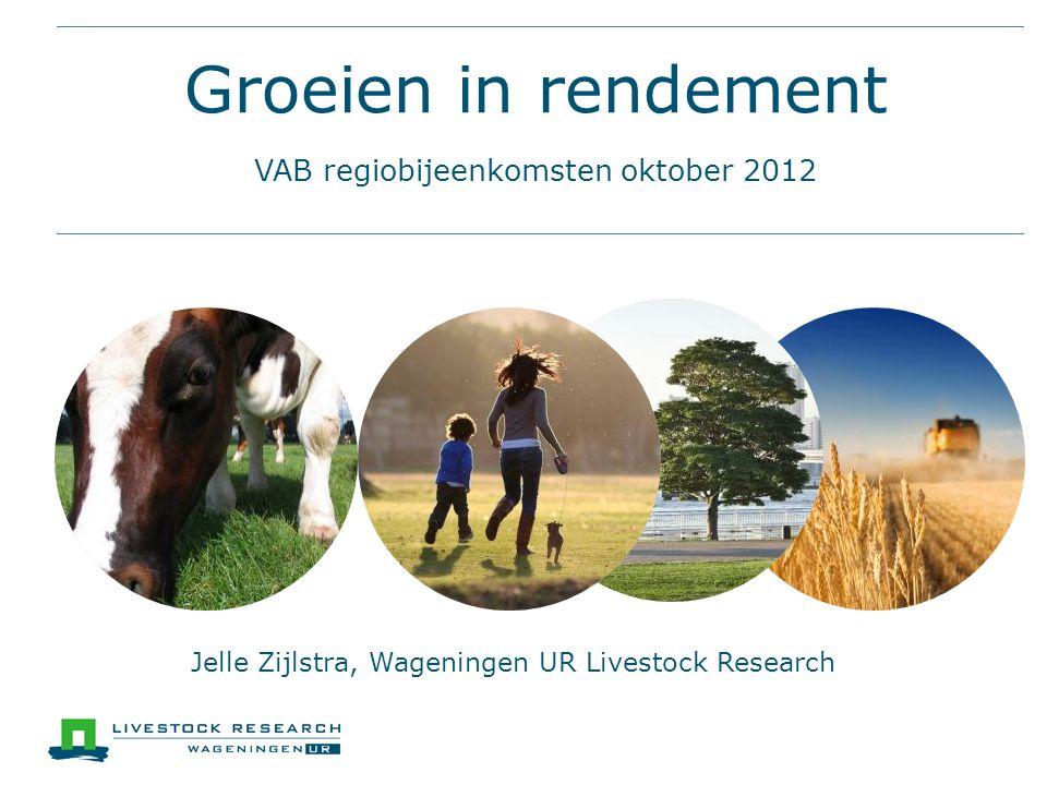 Groeien in rendement VAB regiobijeenkomsten oktober 2012