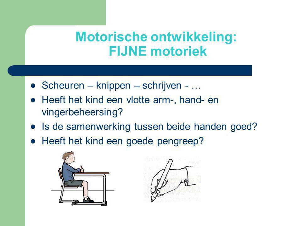 Motorische ontwikkeling: FIJNE motoriek