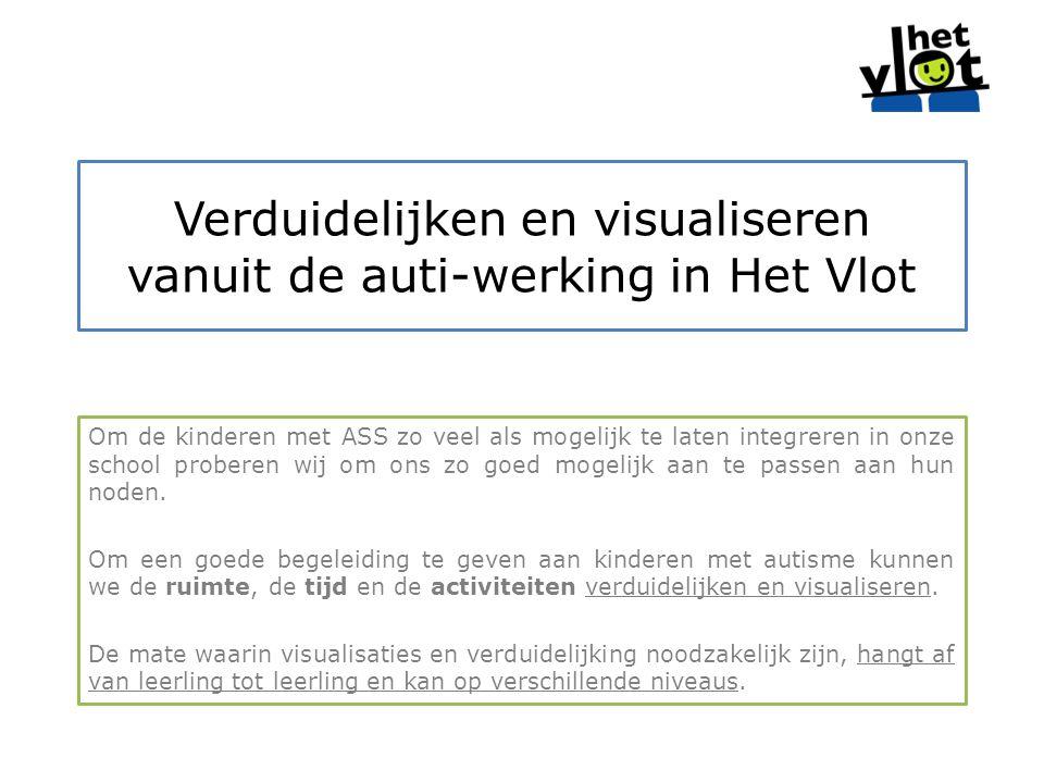 Verduidelijken en visualiseren vanuit de auti-werking in Het Vlot