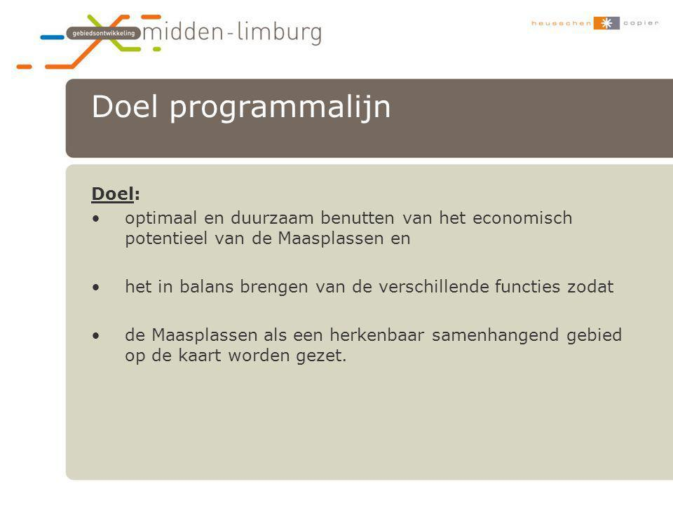 Doel programmalijn Doel: