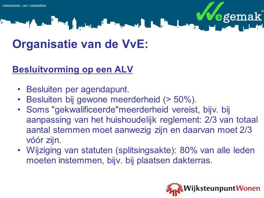 Organisatie van de VvE: Besluitvorming op een ALV