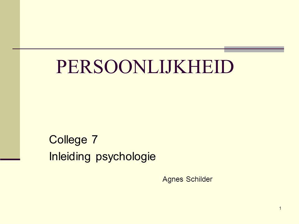 College 7 Inleiding psychologie