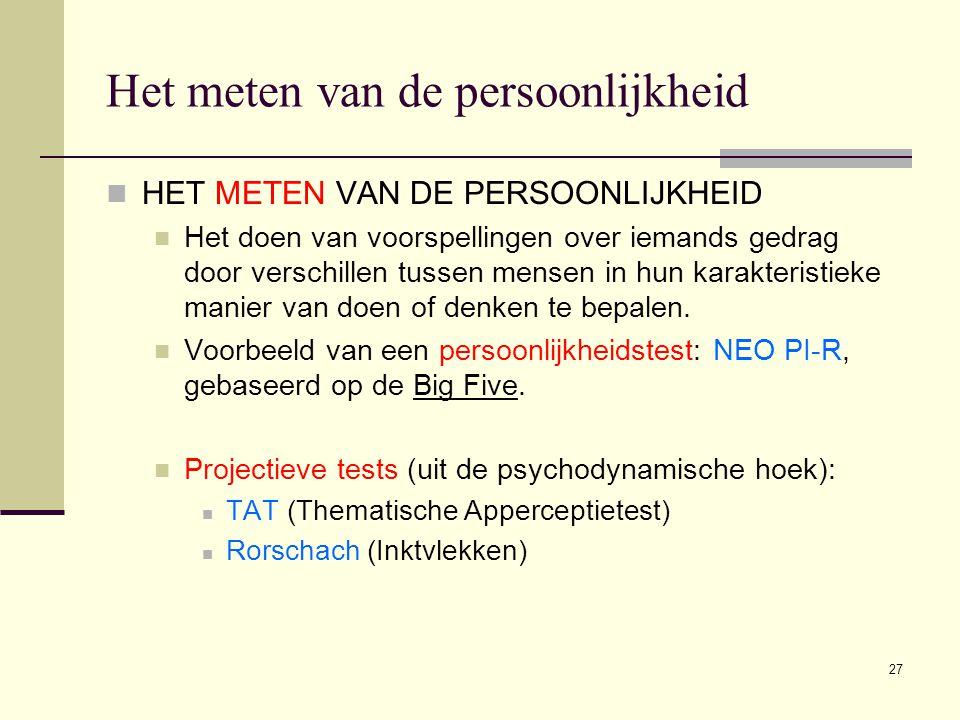 Het meten van de persoonlijkheid