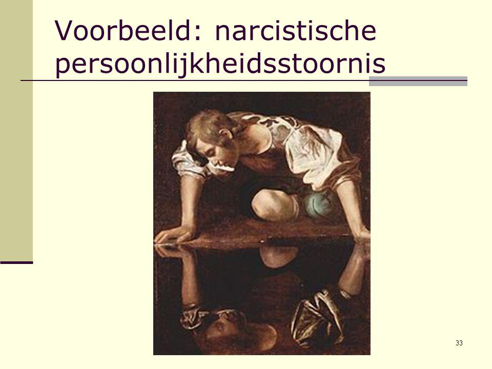 Voorbeeld: narcistische persoonlijkheidsstoornis