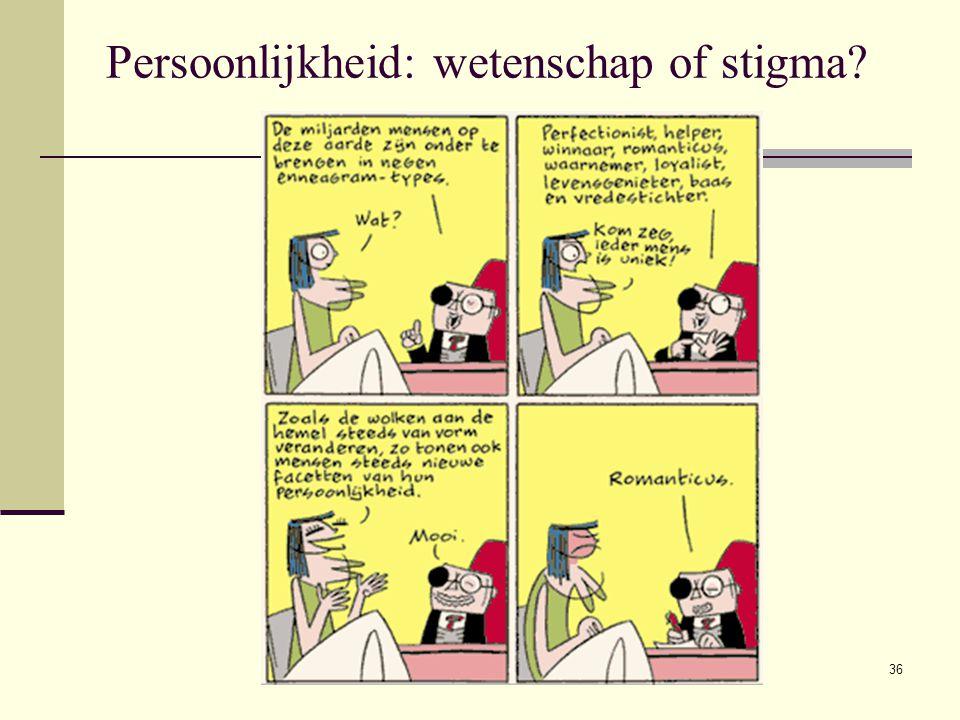 Persoonlijkheid: wetenschap of stigma