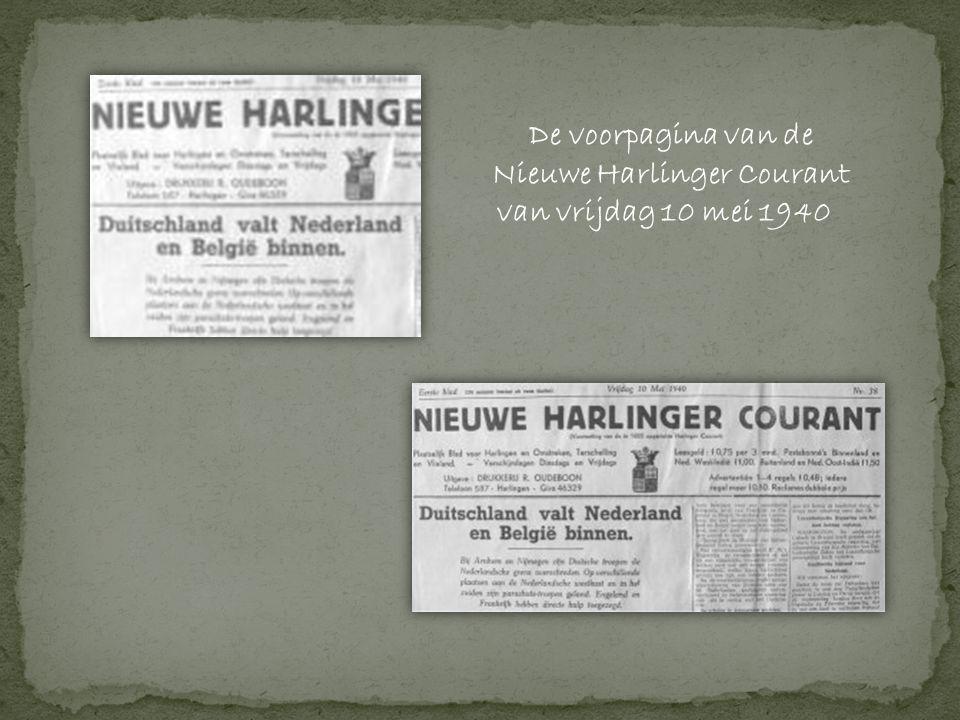 Nieuwe Harlinger Courant van vrijdag 10 mei 1940