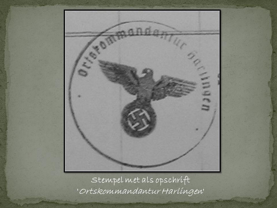 Stempel met als opschrift Ortskommandantur Harlingen