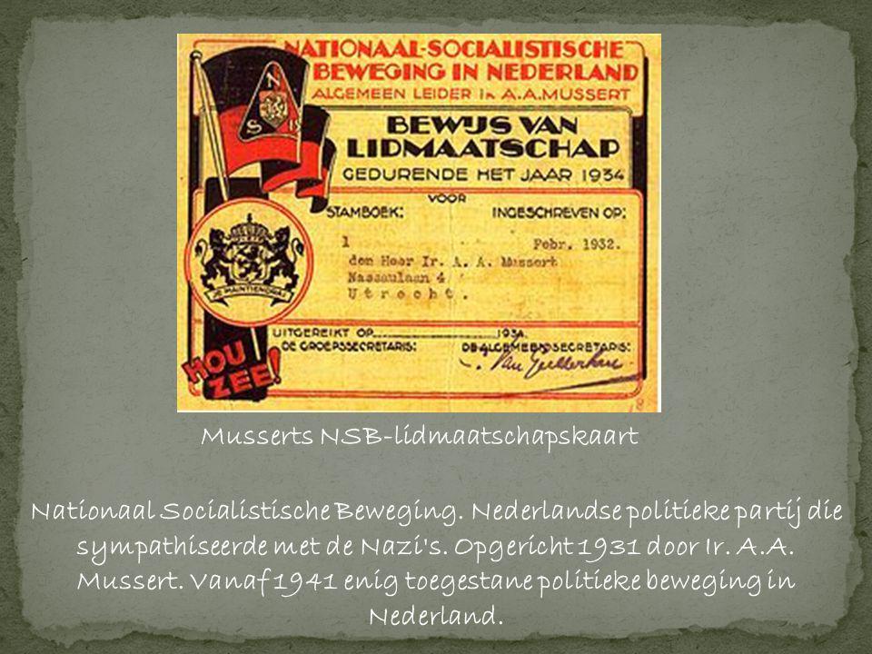Musserts NSB-lidmaatschapskaart