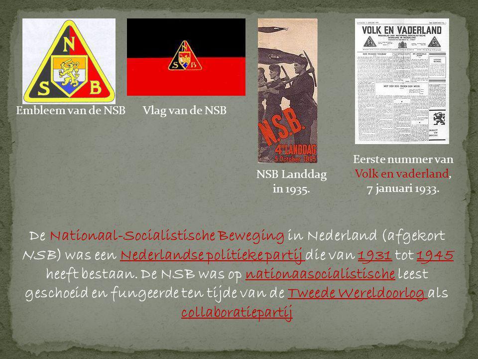 Eerste nummer van Volk en vaderland, 7 januari 1933.