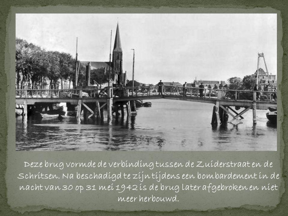 Deze brug vormde de verbinding tussen de Zuiderstraat en de Schritsen