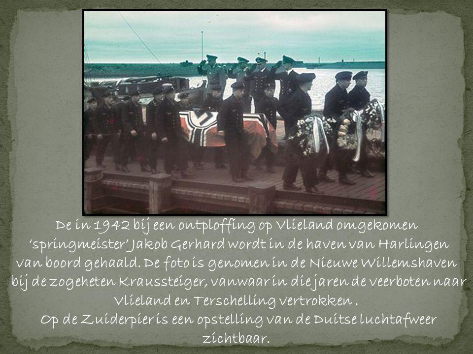De in 1942 bij een ontploffing op Vlieland omgekomen