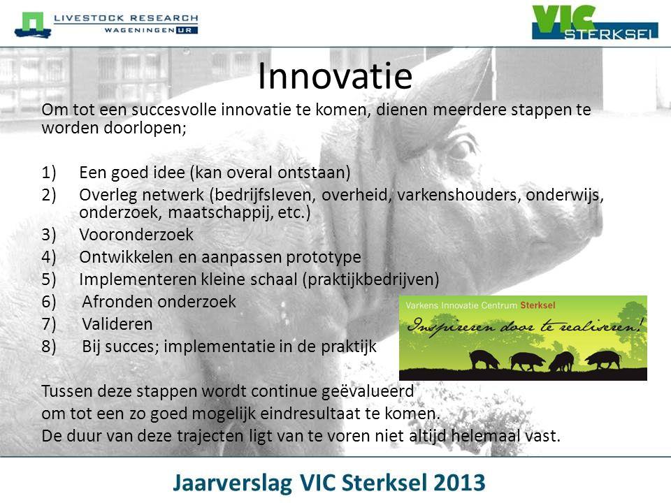 Innovatie Om tot een succesvolle innovatie te komen, dienen meerdere stappen te worden doorlopen; Een goed idee (kan overal ontstaan)