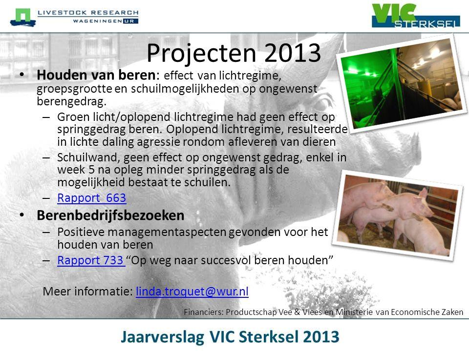 Projecten 2013 Houden van beren: effect van lichtregime, groepsgrootte en schuilmogelijkheden op ongewenst berengedrag.