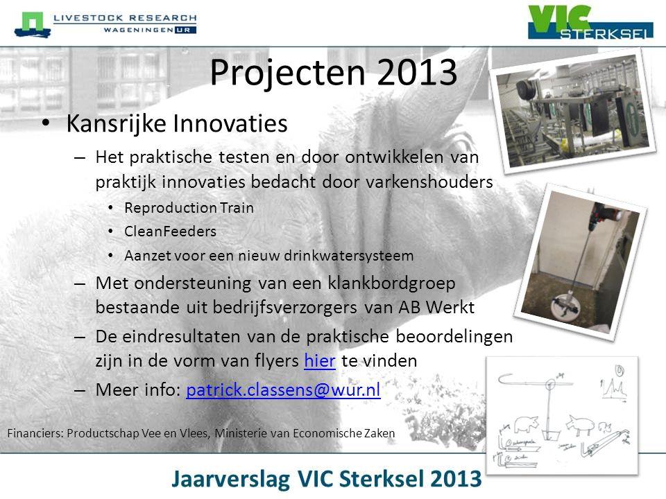 Projecten 2013 Kansrijke Innovaties