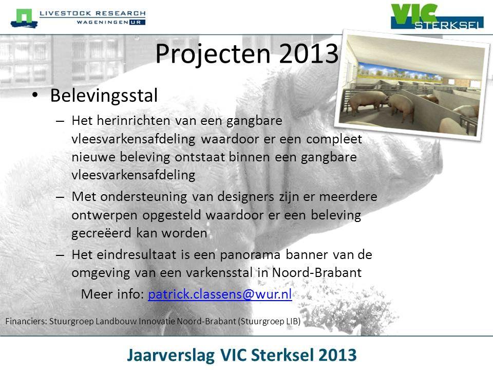Projecten 2013 Belevingsstal