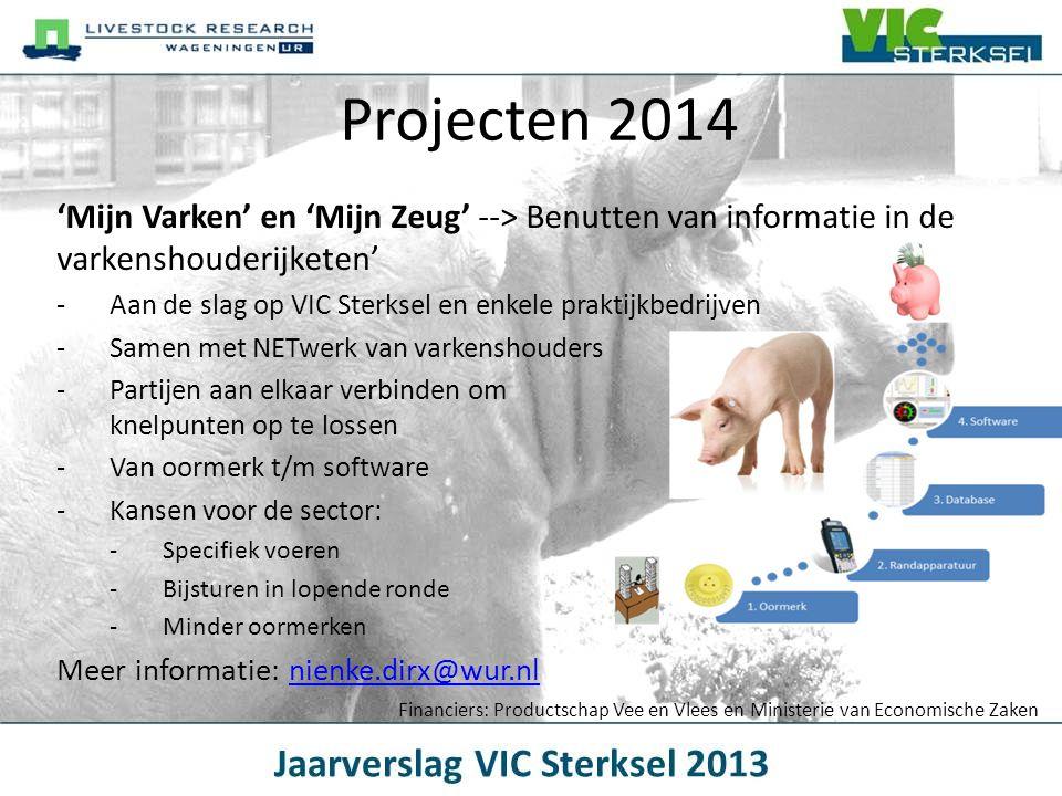 Projecten 2014 'Mijn Varken' en 'Mijn Zeug' --> Benutten van informatie in de varkenshouderijketen'