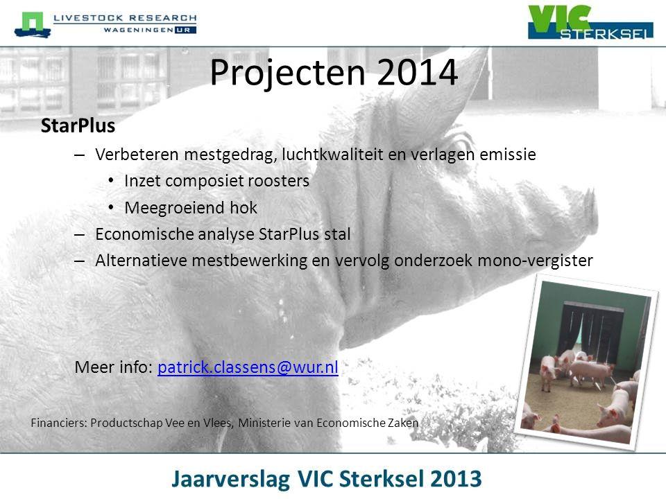 Projecten 2014 StarPlus. Verbeteren mestgedrag, luchtkwaliteit en verlagen emissie. Inzet composiet roosters.