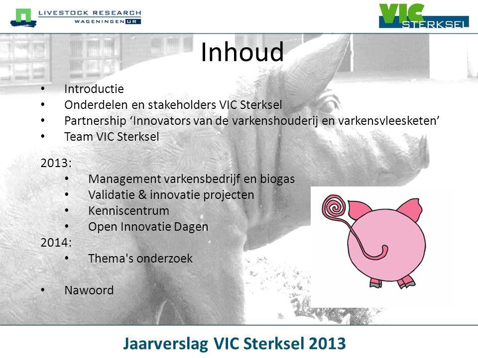 Inhoud Introductie Onderdelen en stakeholders VIC Sterksel