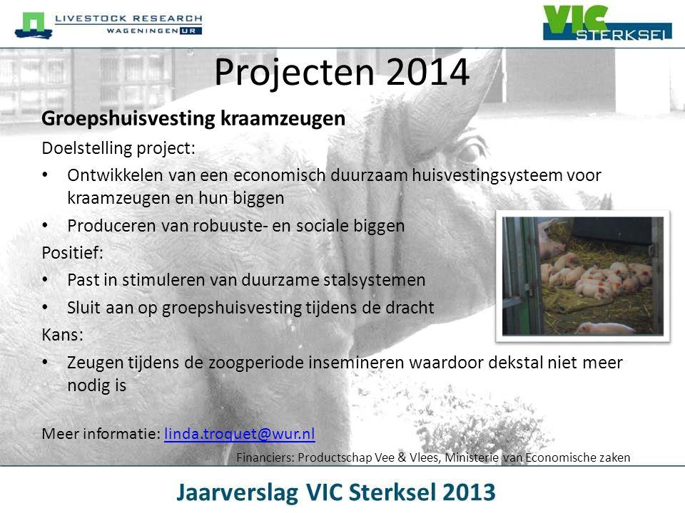 Projecten 2014 Groepshuisvesting kraamzeugen Doelstelling project:
